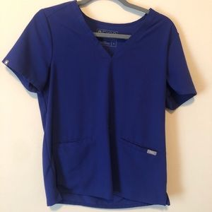 FIGS Casma top- Deep Royal Blue